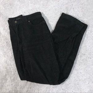 Eddie Bauer Tall Natural Fit Black Corduroy Pants